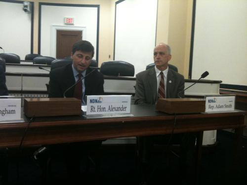 Panel with Rt. Hon. Alexander and Rep. Adam Smith